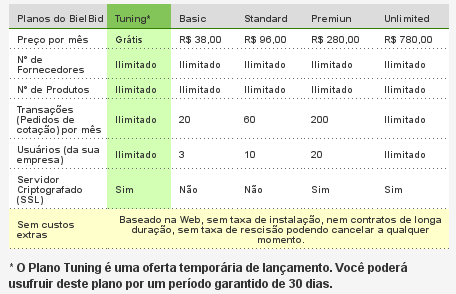 BielBid - Tabela de Planos - Depois